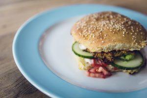 vegetarische hamburger - vleesvervangers