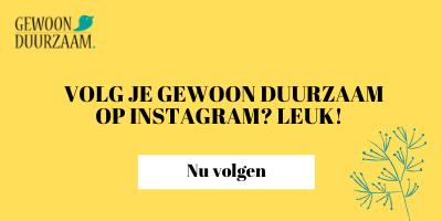 Volg Gewoon Duurzaam nu op Instagram
